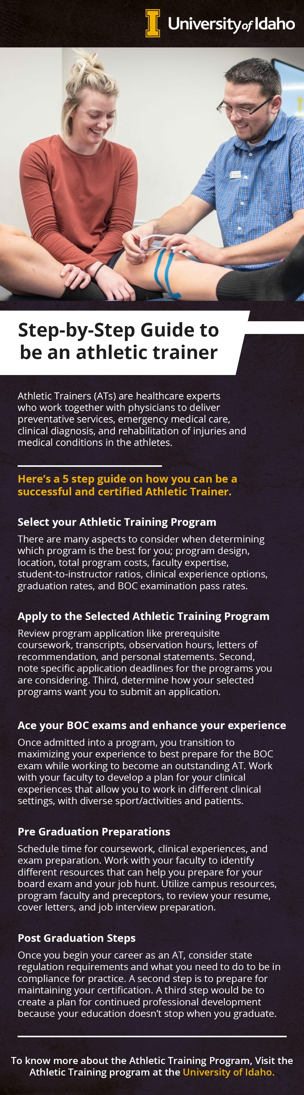 Step by Step guide to be an Athletic Trainer
