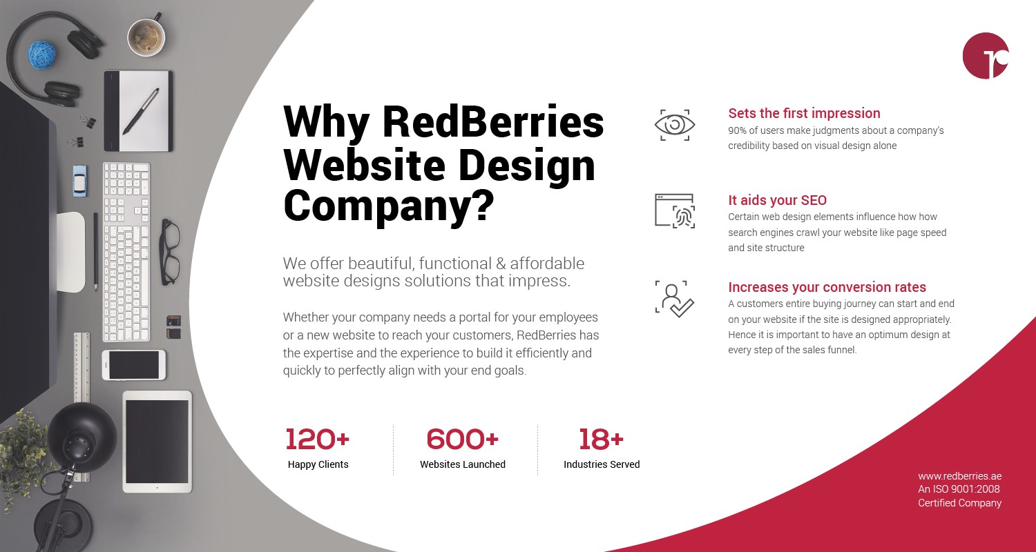 Red Berries Website Design Company in Dubai Offer Beautiful, Functional & affordable Website Design