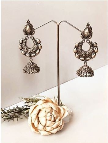 Shop beautiful silver earrings for womens online @ Best Price
