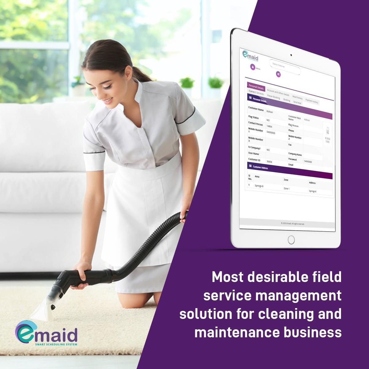 Maid scheduling software in Dubai.