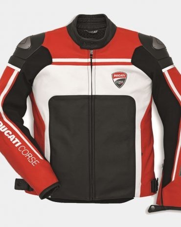 Corse 12 Men's Motorcycle Leather Jacket-Ducati Replica