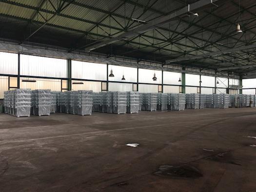 Waste bins on stock