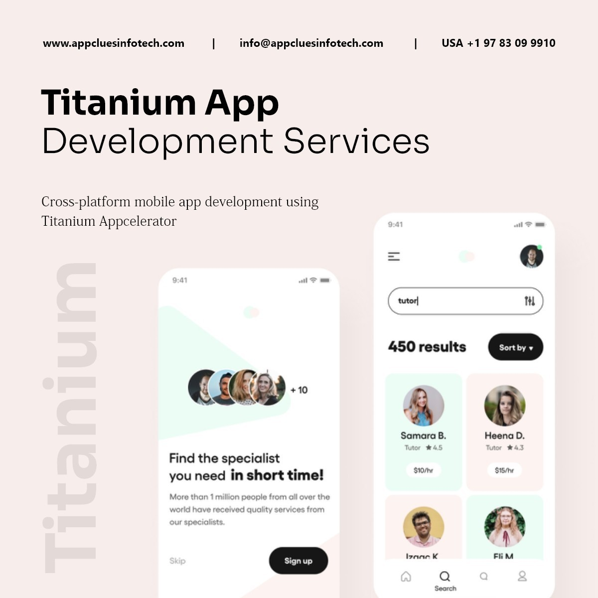 Hire Appcelerator Titanium Mobile App Developers in USA