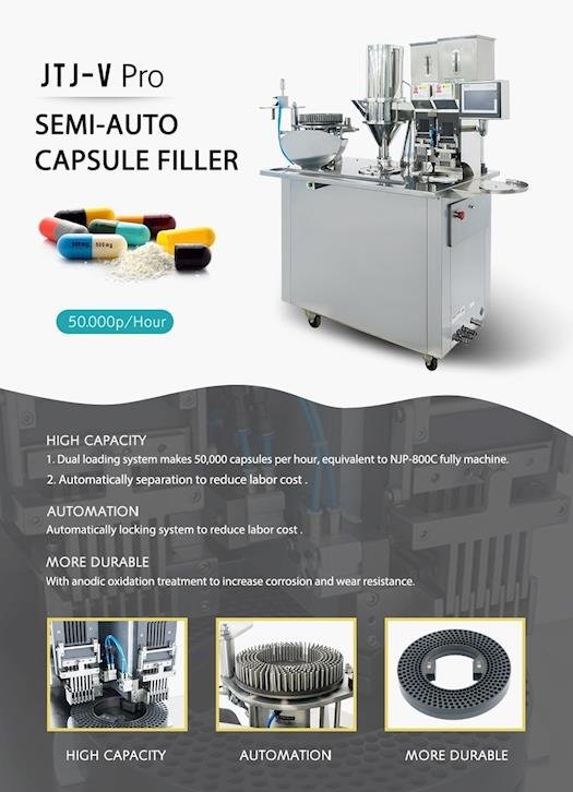 Semi-auto Capsule Filling Machine JTJ-V Pro