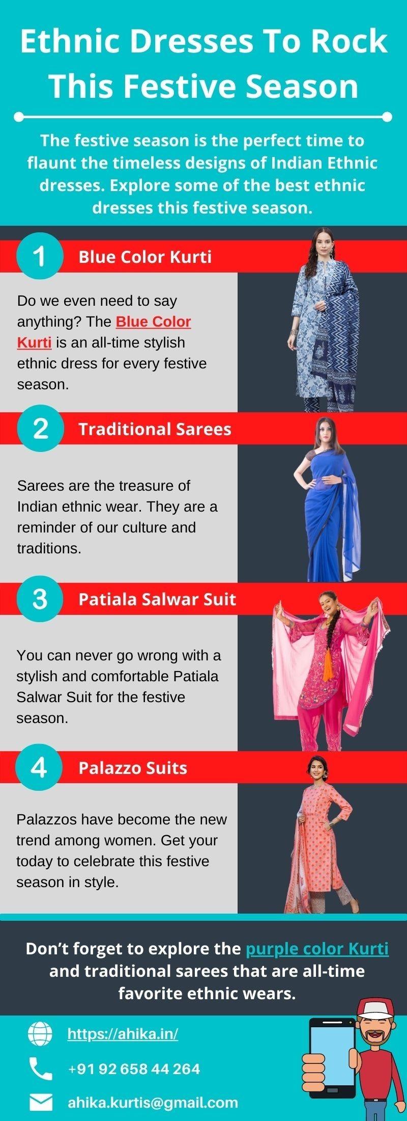 Ethnic Dresses To Rock This Festive Season