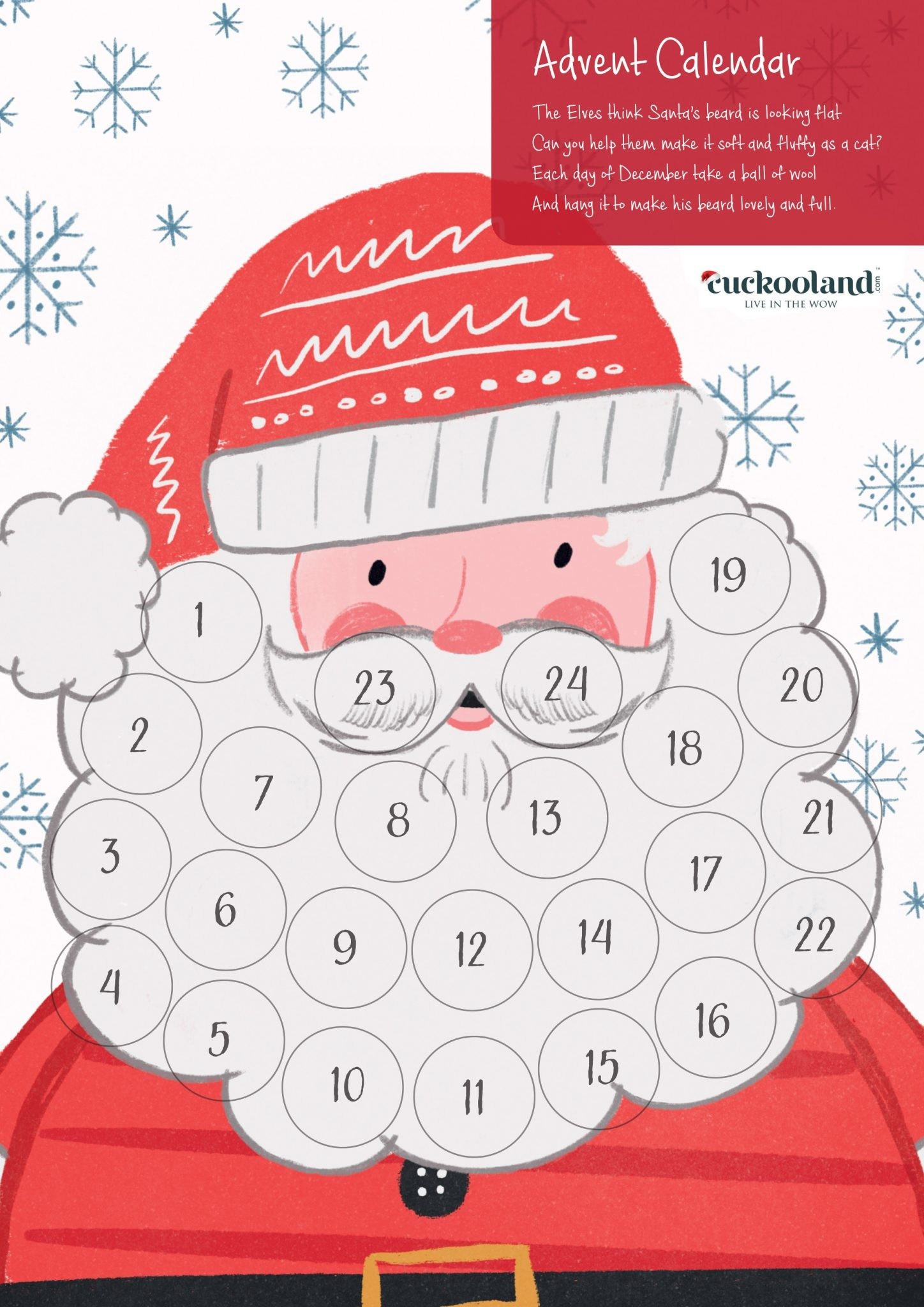 Printable Advent Calendar by Cuckooland