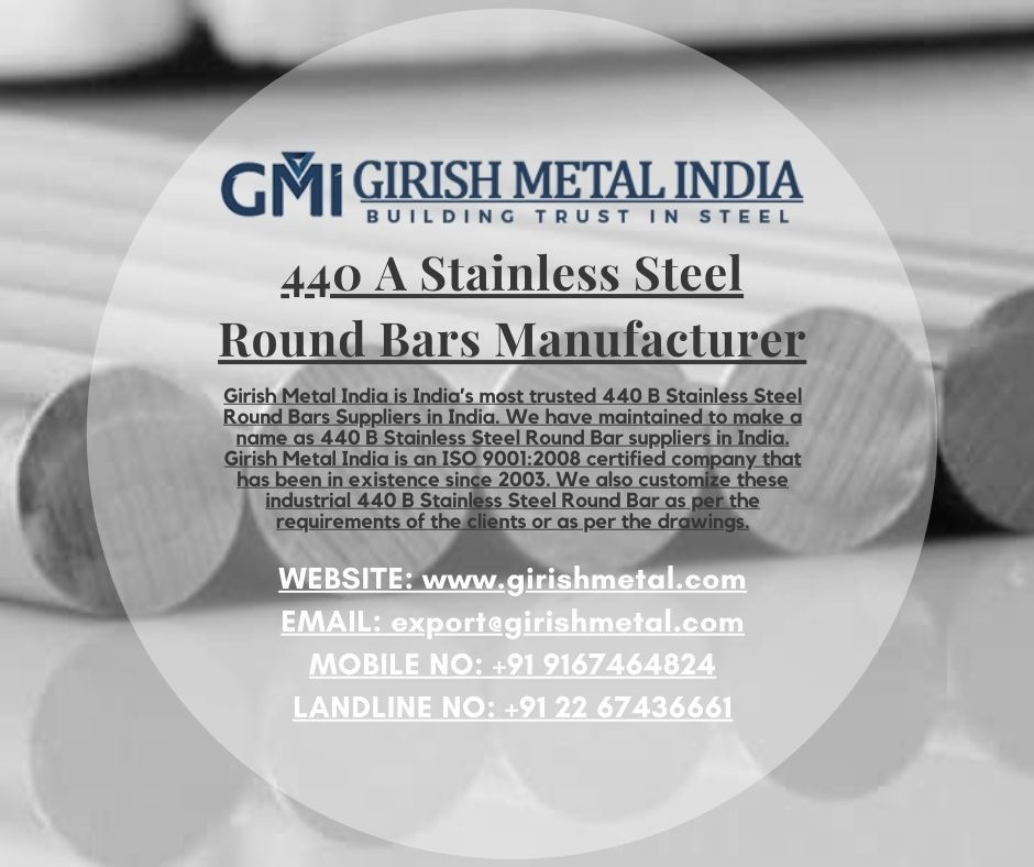 440 A Stainless Steel Round Bars Manufacturers