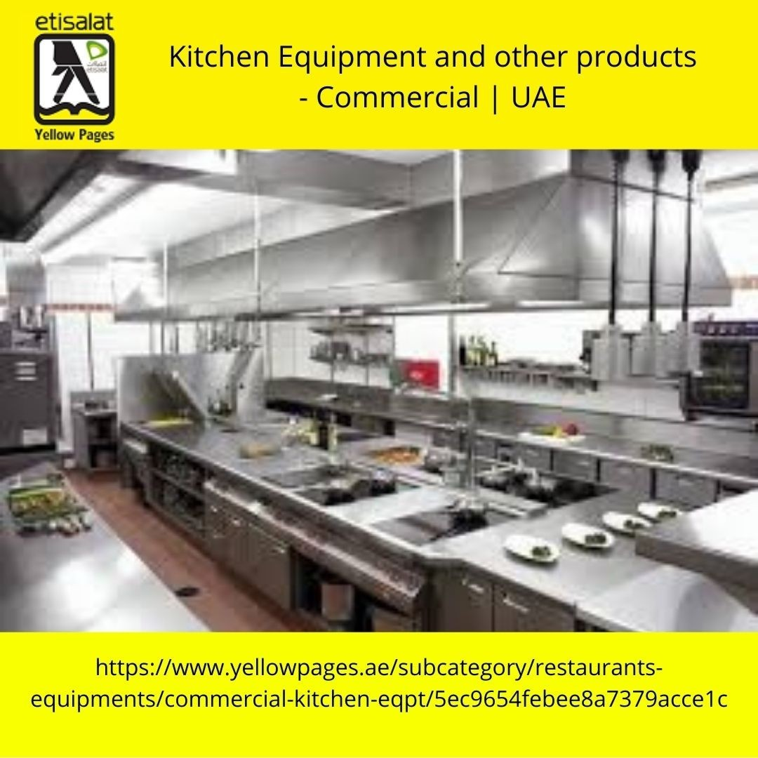Kitchen Equipment and other products - Commercial | UAE