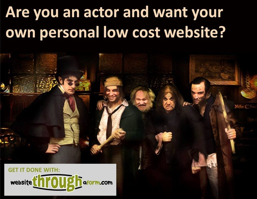Are You An Actor And Want Your Own Personal Low Cost Website