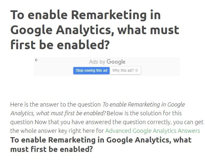 To Enable Remarketing In Google Analytics, What Must First