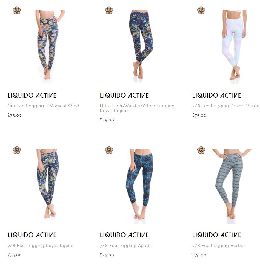 Good variety of gym leggings, yoga leggings
