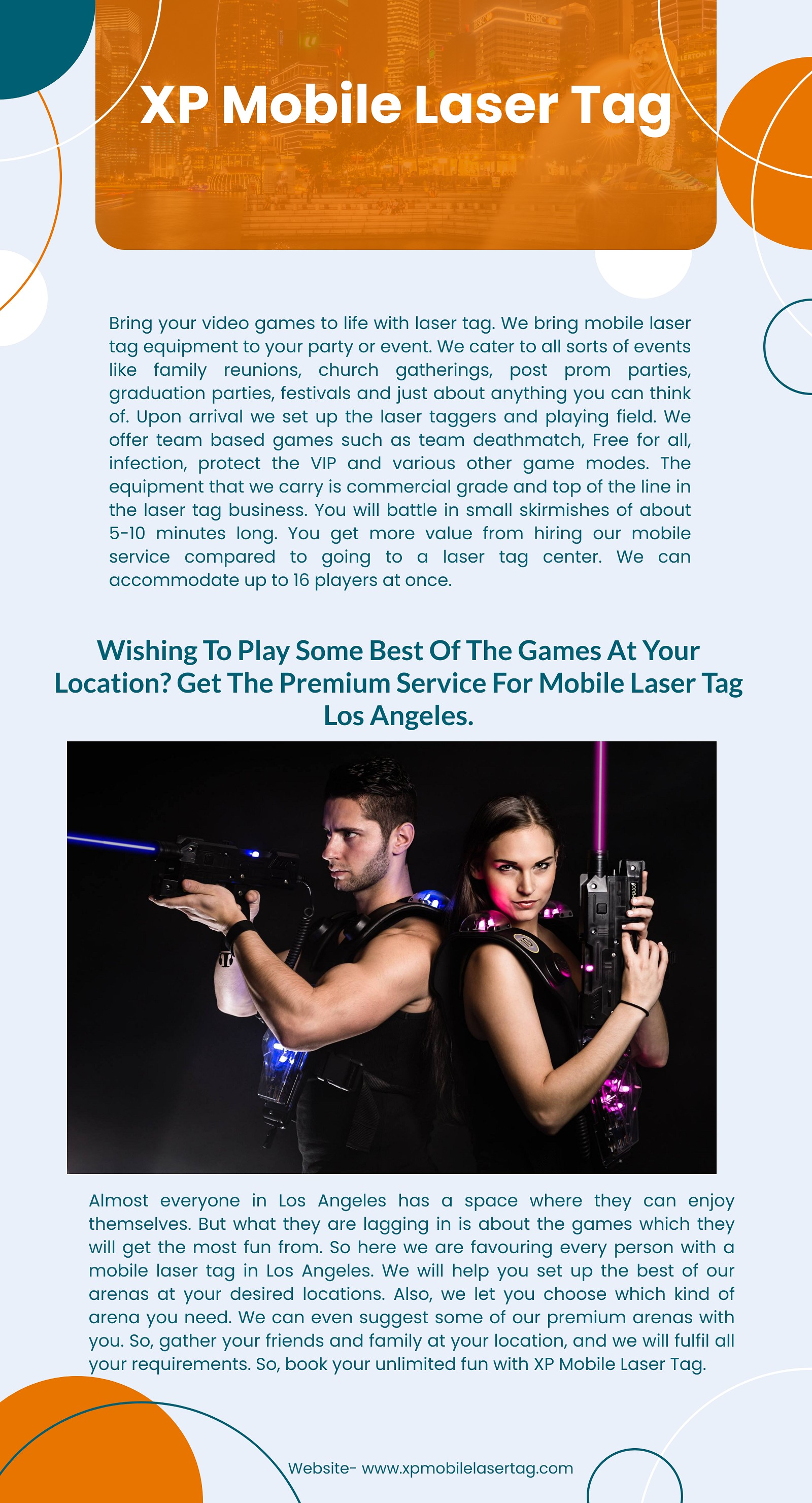 Let's take an adventurous break from our routine life with laser tag West Covina:
