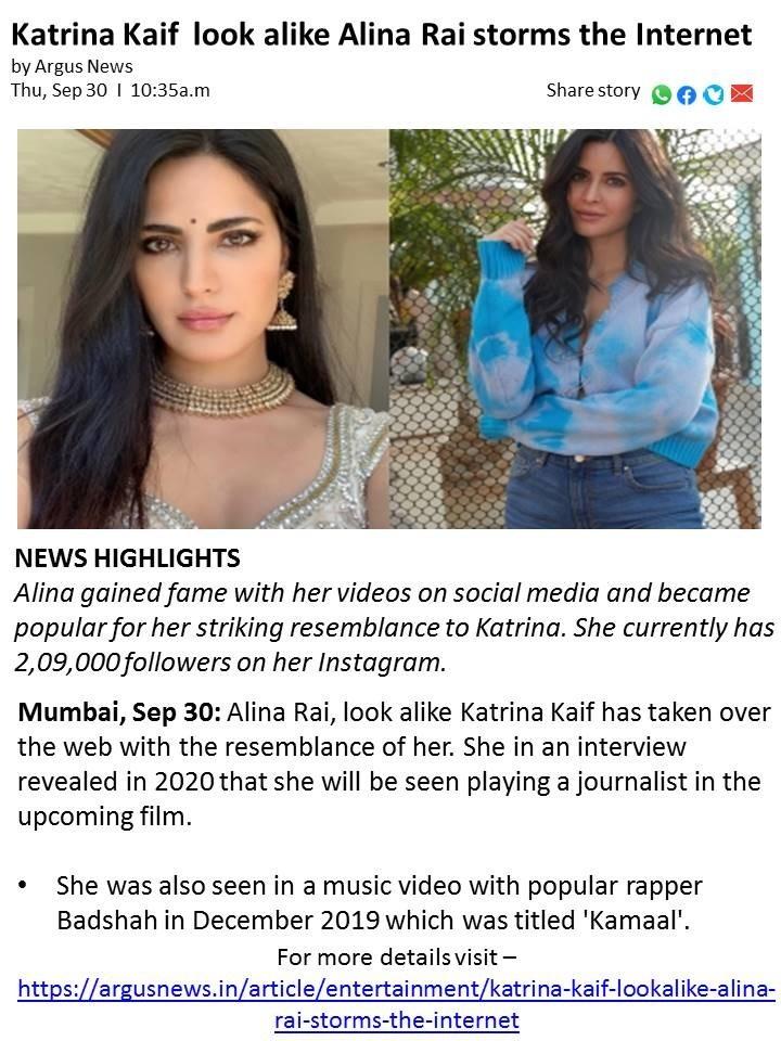 Katrina Kaif lookalike Alina Rai storms the Internet
