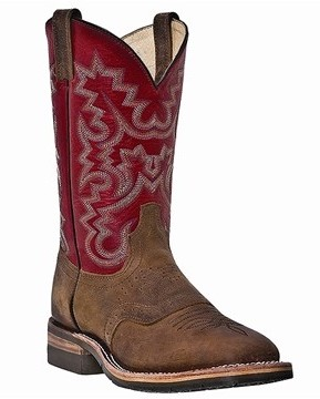 Tan & Red Leather Boot-Dan post boots