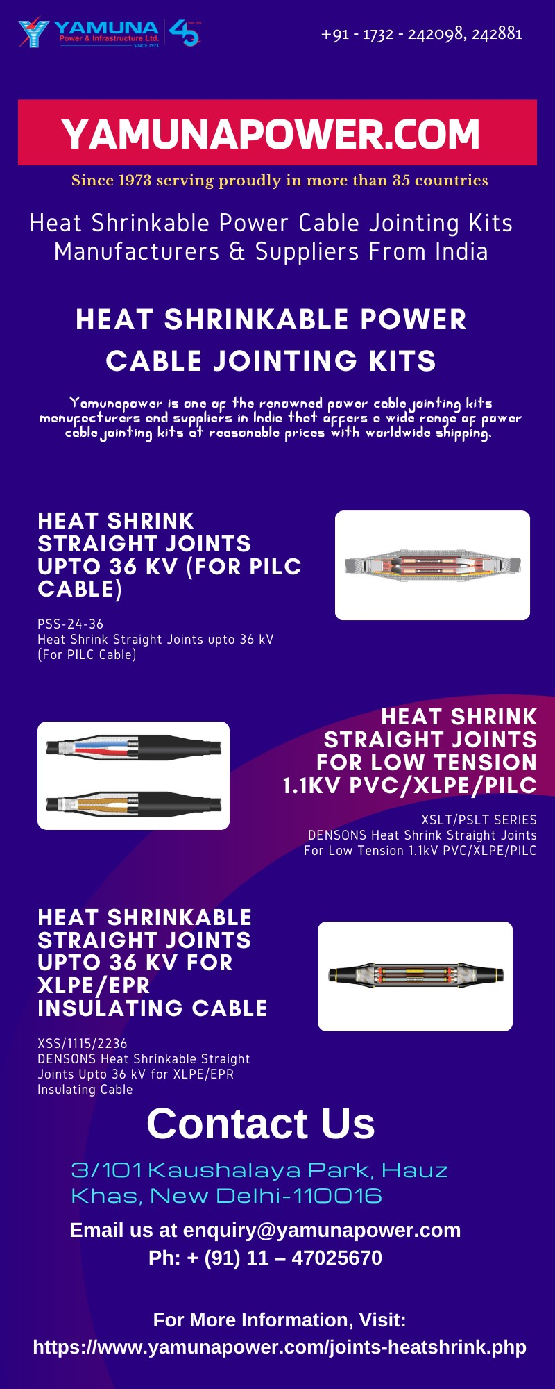 Power Cable Jointing Kits Suppliers