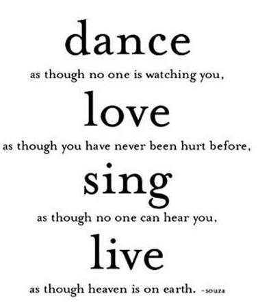 Dance Like Noone Is Watching