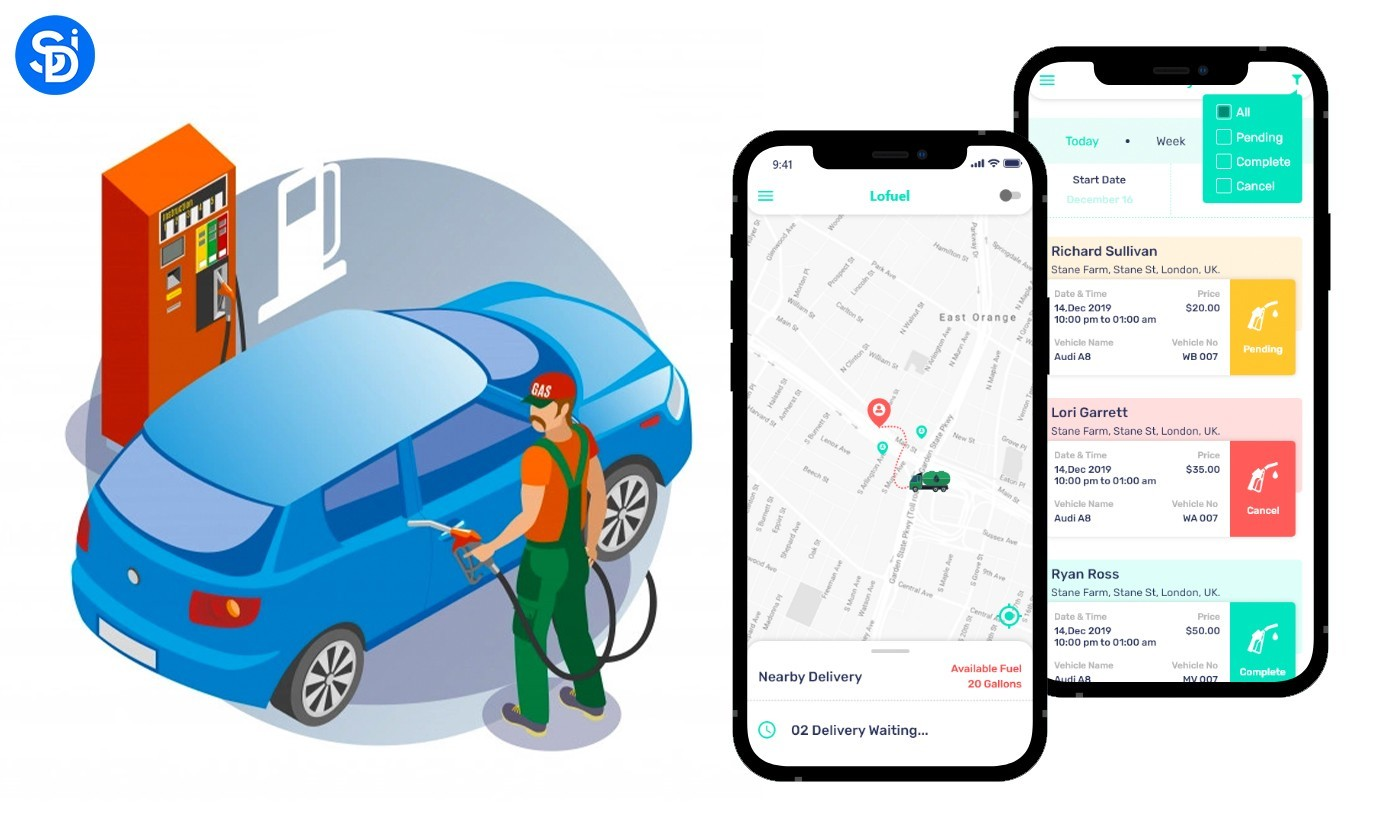 On-Demand Fuel & Gas Delivery App Development Cost & Features