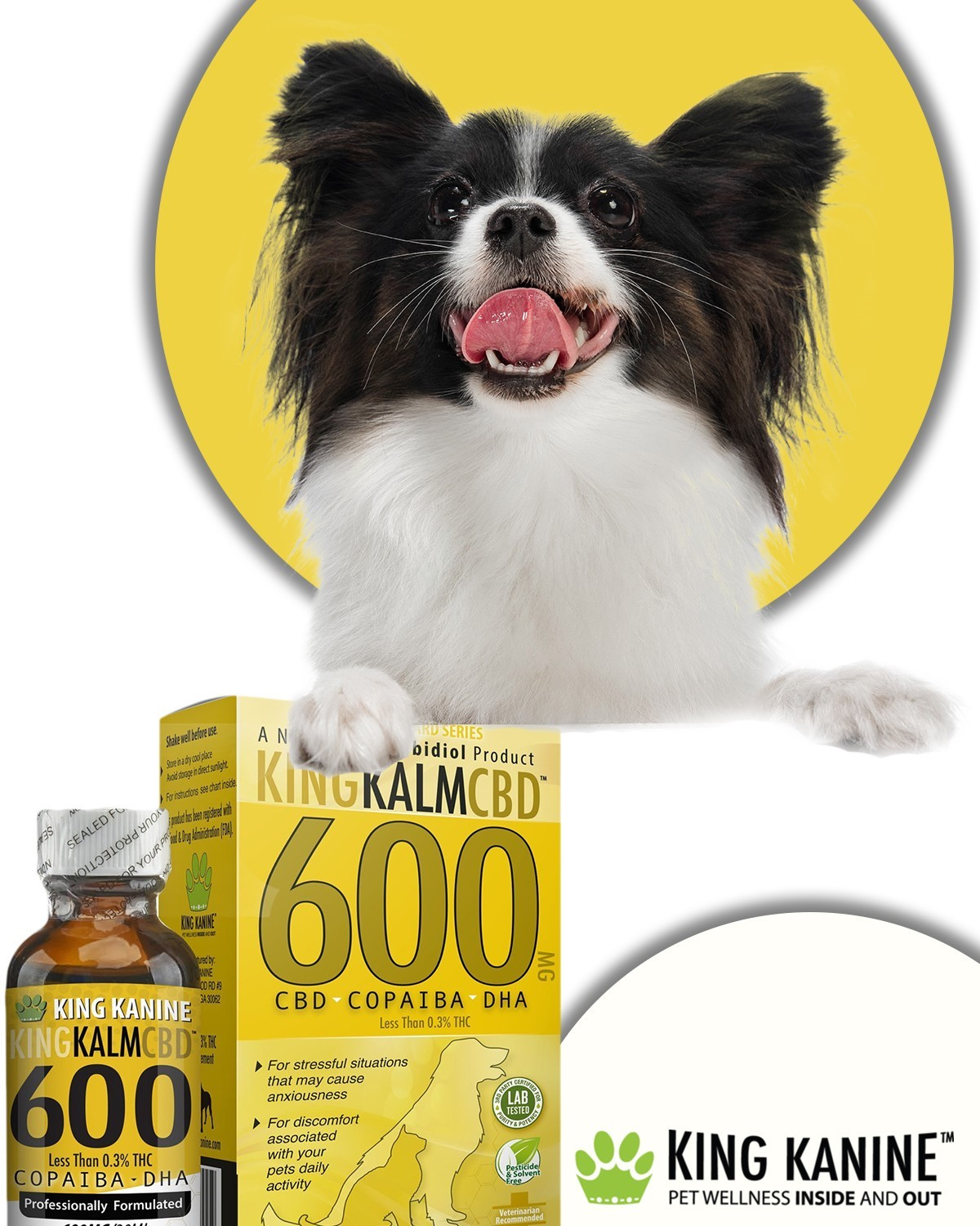 King Kalm CBD for Dogs | 600 MG