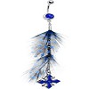 Feather Dangle Belly Ring with Cross