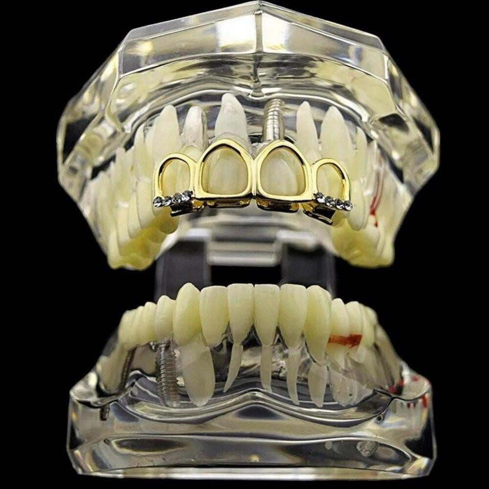 Four Teeth Full Open Face Hollow Grillz