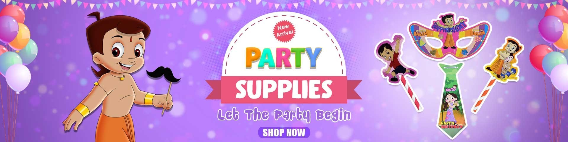 Buy Chhota Bheem Theme Birthday Party Decoration Supplies