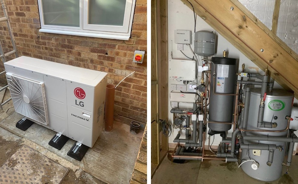 Air Source Heat Pump Install
