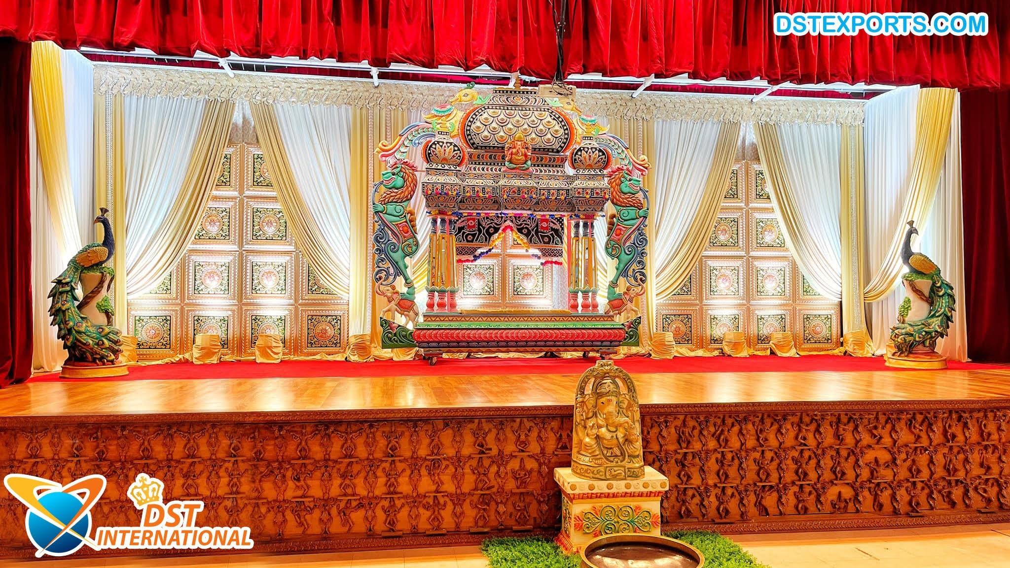 Manavari Theme South Indian Stage Decoration