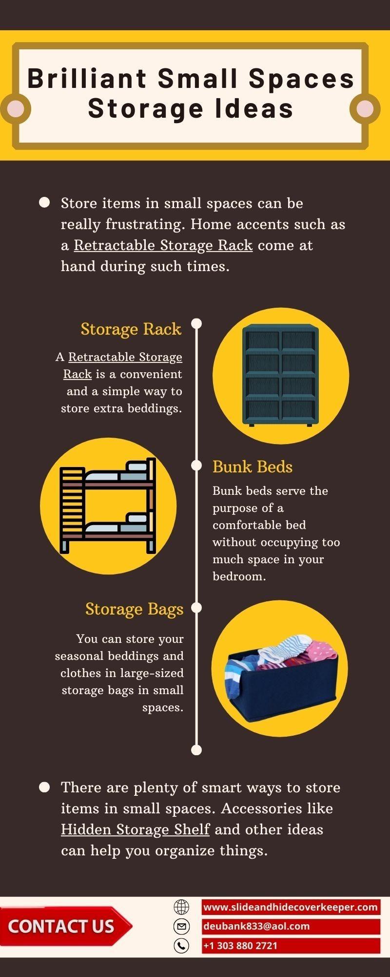 Brilliant Small Spaces Storage Ideas