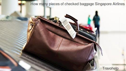 How many pieces of checked baggage Singapore airlines
