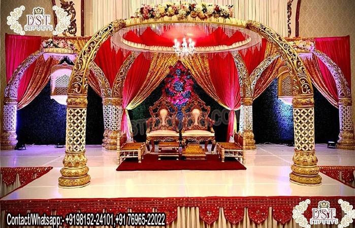 Indian Wedding Chuppah Decor Elephant Mandap