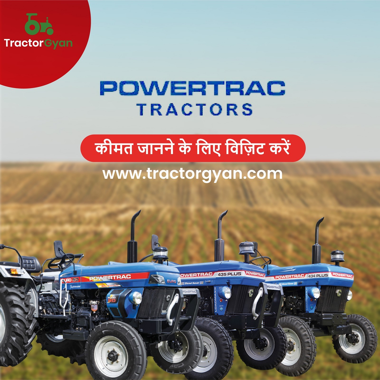 Powertrac Tractor|Powertrac Tractor|PriceMini Tractor, features in India-TractorGyan