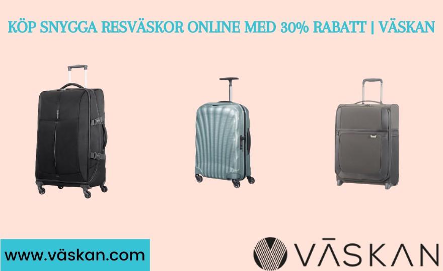 Köp snygga resväskor online med 30 % rabatt | Väskan