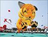 Enthusiasts Flying Kites in the Shape of Tiger and Various other Animals and Birds at International