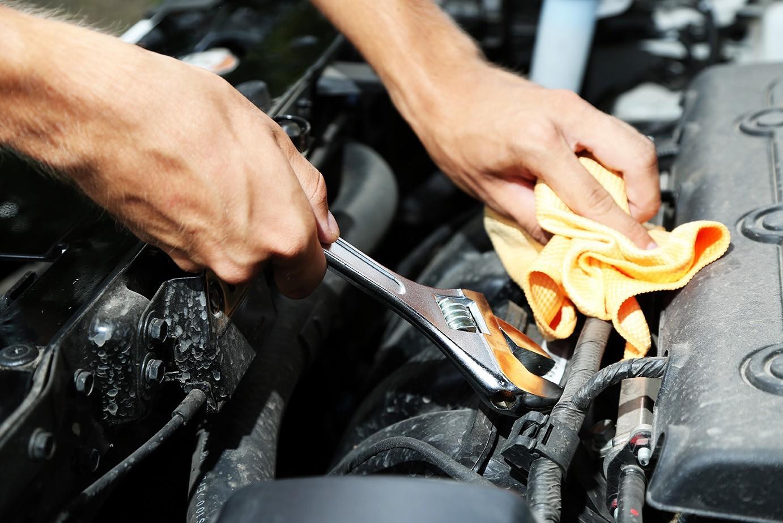 Mechanic working on vehicle in Las Vegas