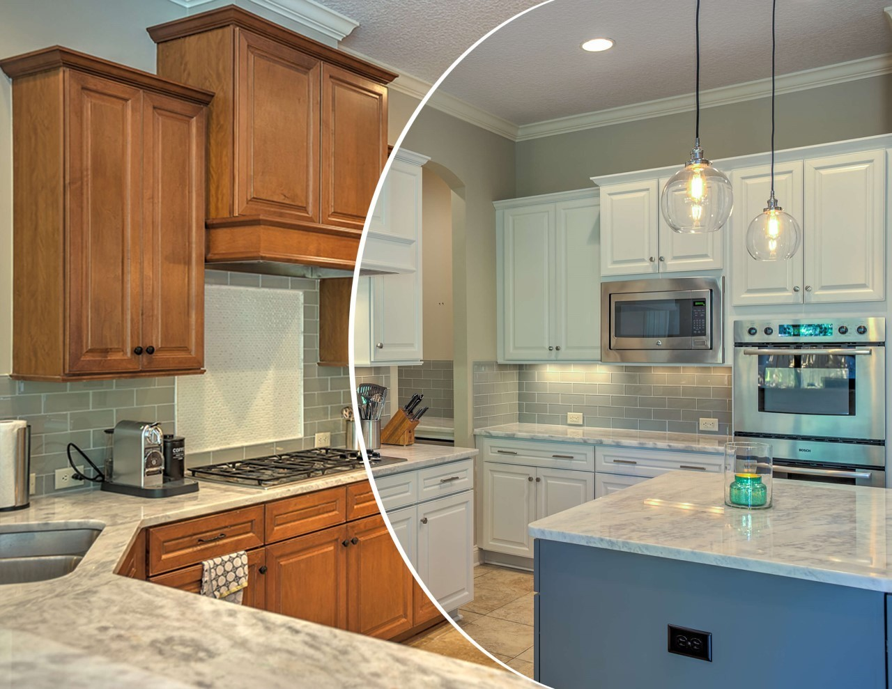 Cabinet painting services in Lancaster OH