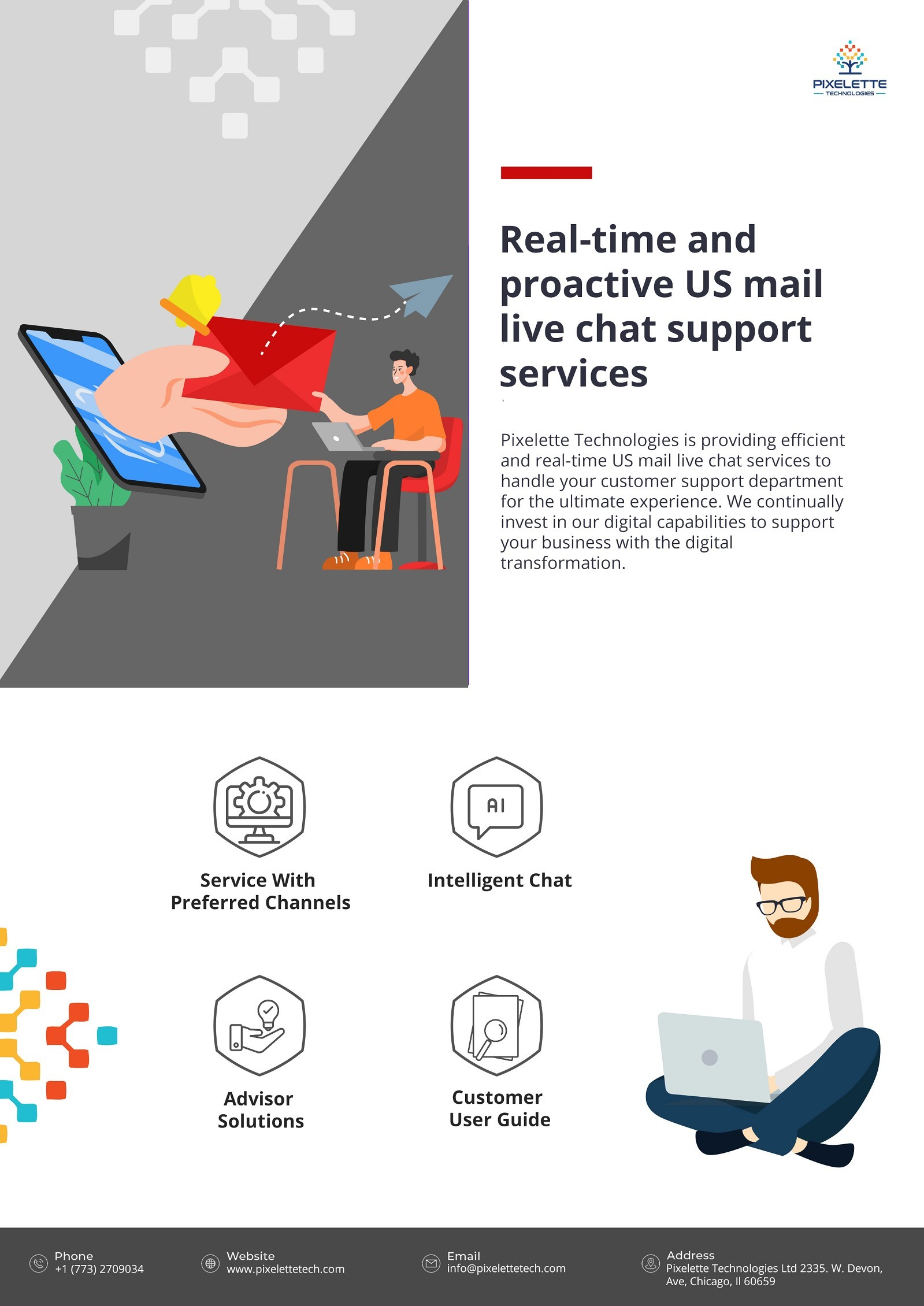 Real-time and proactive US mail live chat support services