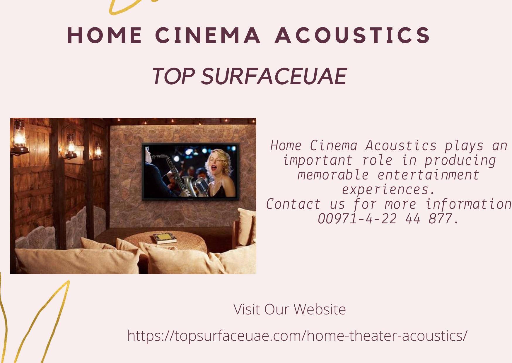 Home Cinema Acoustics | TOP SURFACE - UAE