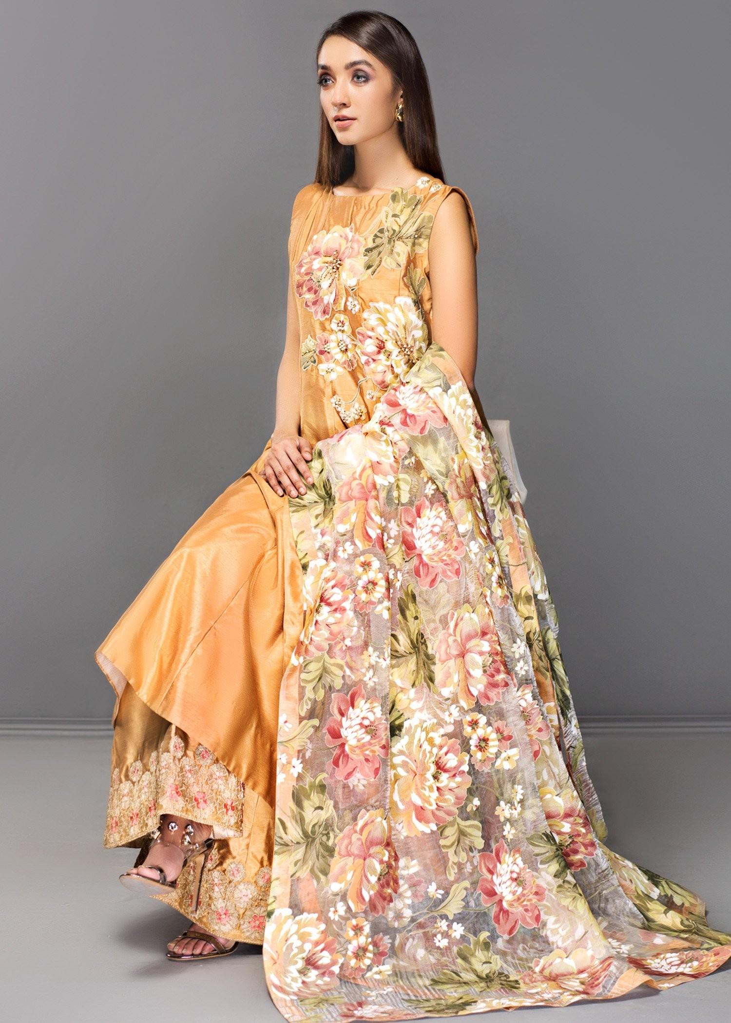 Digital Flower-Formal dress