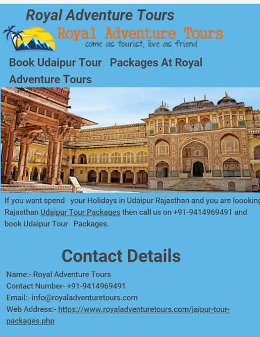 Book jaipur Tour Packages At Royal Adventure Tours