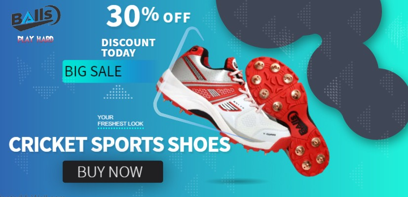 Get 30% Discount on Cricket Sports Shoes from The Balls