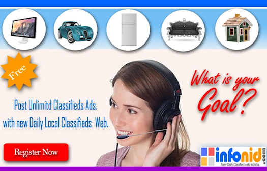 New free Daily Classifieds Website In India.