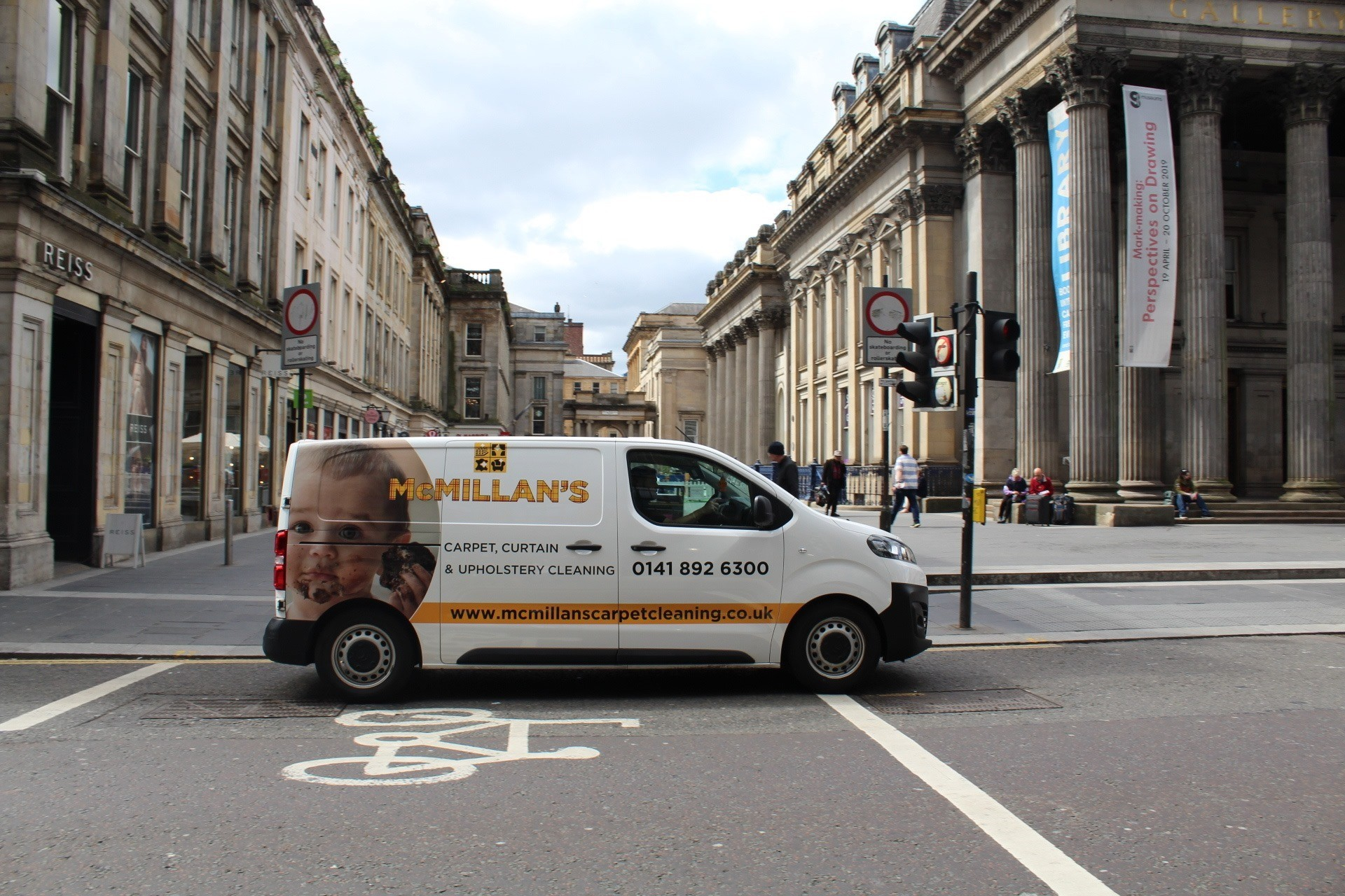 McMillan's Cleaning and Restoration Van in Glasgow