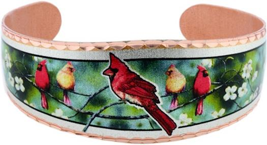 Handmade Cardinal Bracelet by Copper Reflections