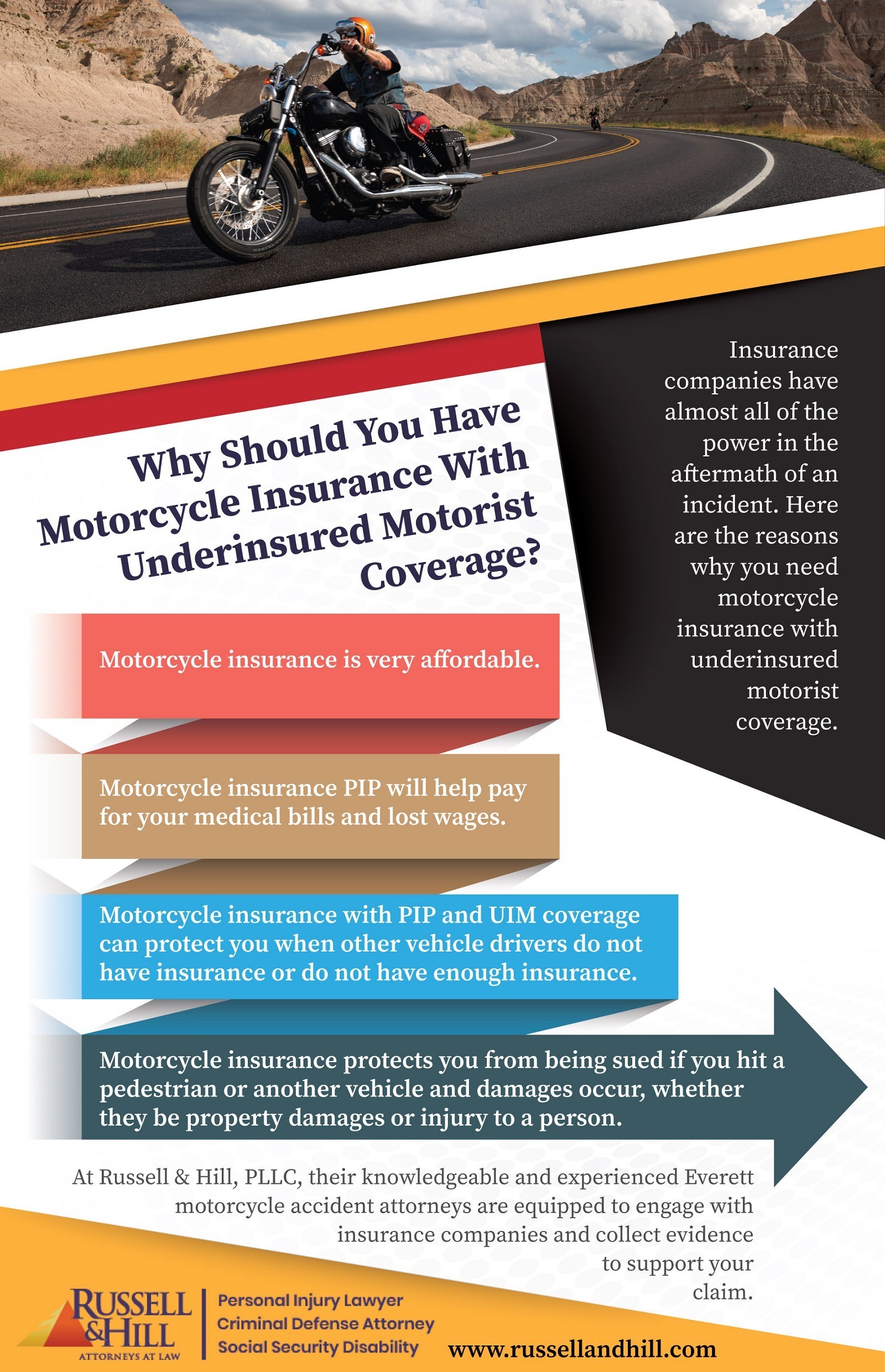 Why Should You Have Motorcycle Insurance With Underinsured Motorist Coverage?