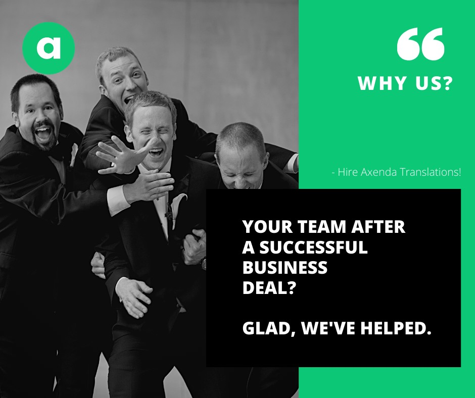 We are happy, when you succeed!