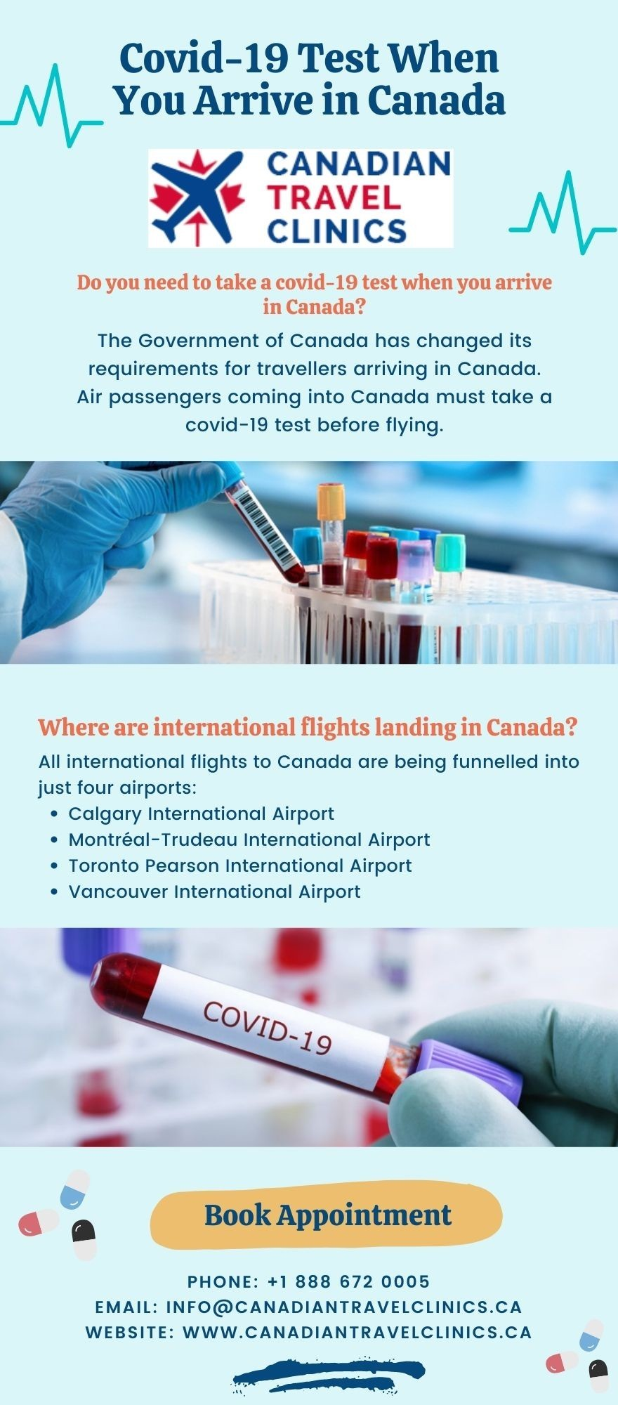 Covid-19 Test When You Arrive in Canada - Canadian Travel Clinics