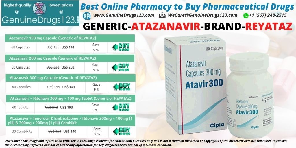 Buy Atazanavir Reyataz Capsule Online