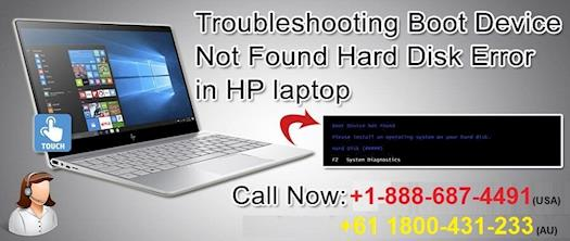 boot device not found hp laptop