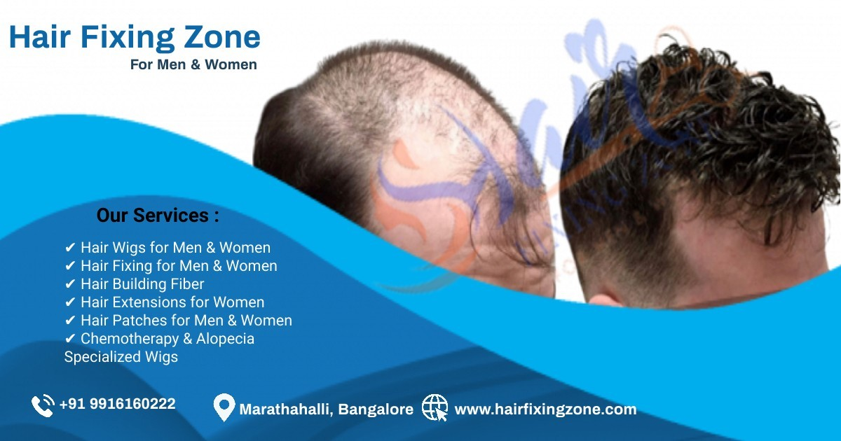 HAIR FIXING ZONE Offers instant solution for Hair loss