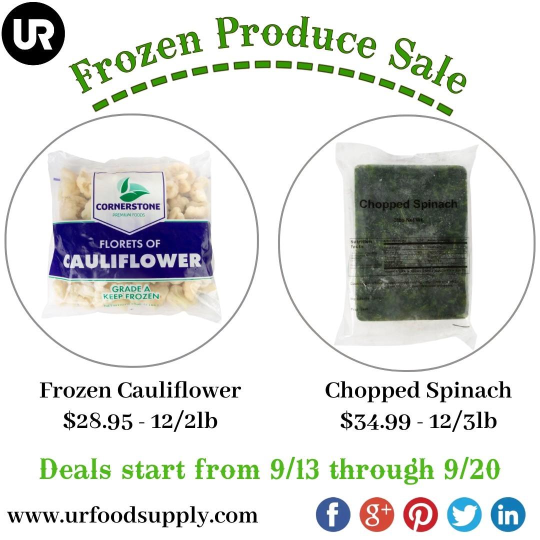 Frozen Produce Sale